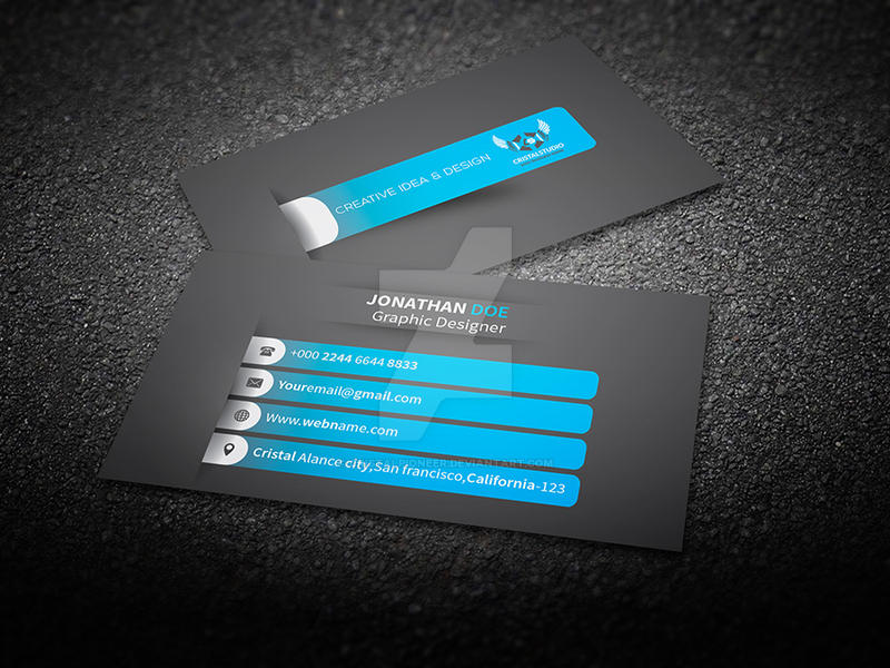 Business card Design On graphicriver by Cristalpioneer on DeviantArt
