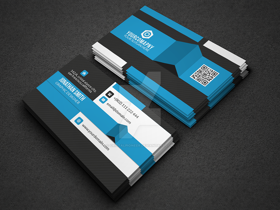 Modern corporate business card on graphicriver by cristalpioneer on modern corporate business card on graphicriver by cristalpioneer colourmoves