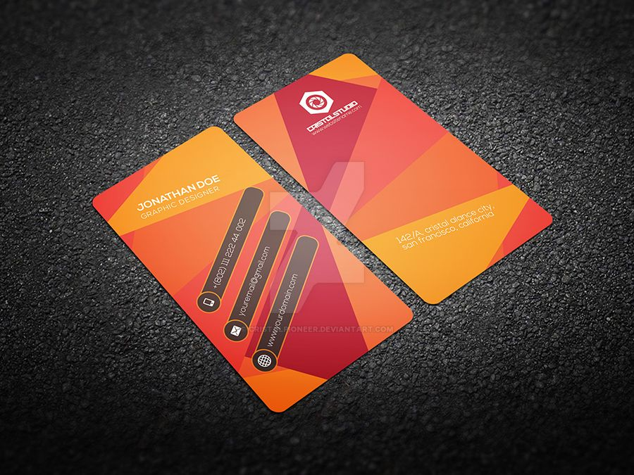 Creative Business Card Template On Graphicriver By Cristalpioneer - Creative business card templates