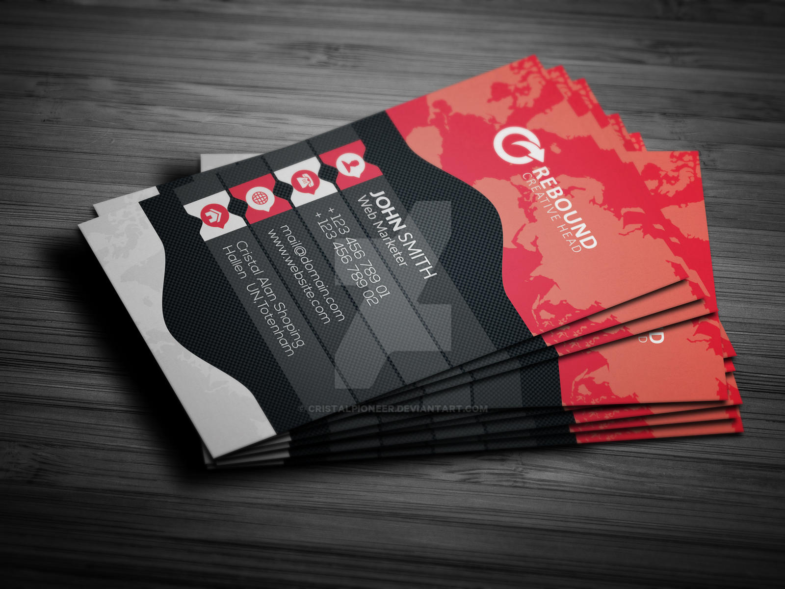 Corporate Business Card by Cristalpioneer