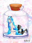 Hatsune miku in a bottle by Sofiia-C