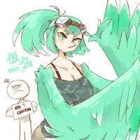 Kana the Harpy (NEW OC) by TheHelmetGuy