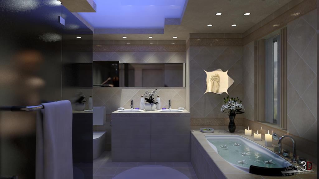 Concept de salle de bain romantique by abc3d on DeviantArt