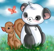 :Pushpanda and Lisa: by Sweetochii