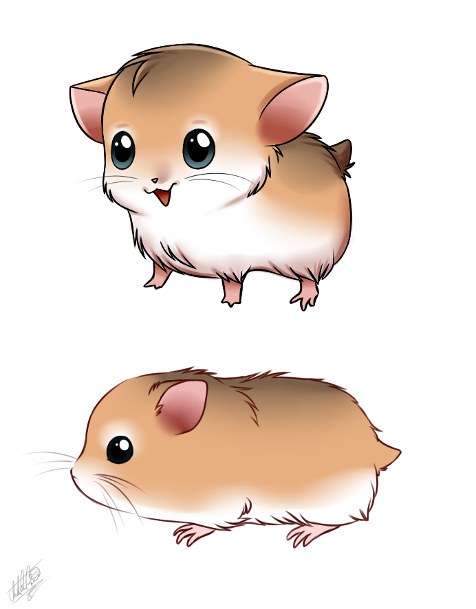 hamster by sweetochii