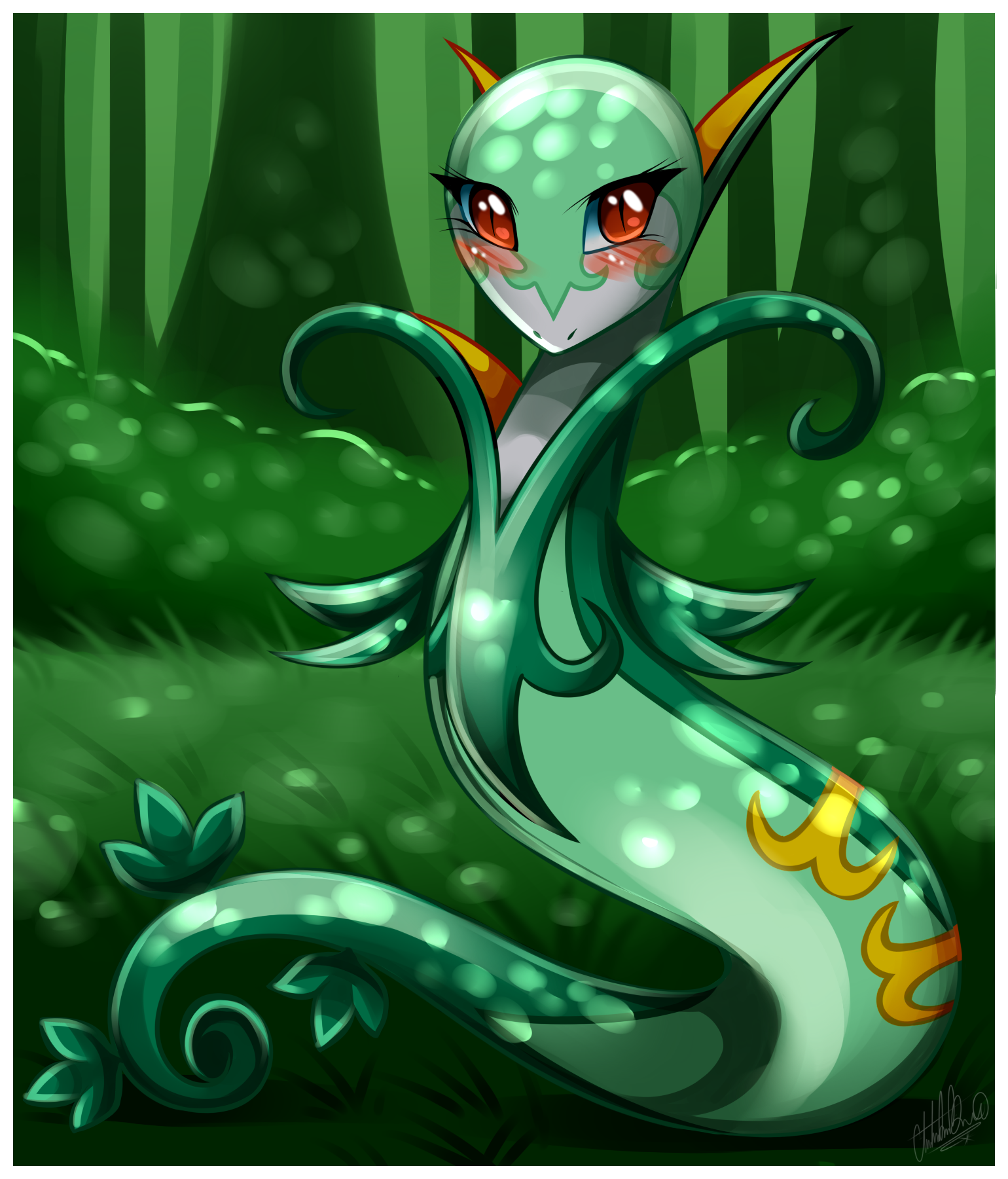 Pokemon- Serperior by Sweetochii on DeviantArt