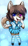 [YCH] Chibi School Girl- Kino Strife