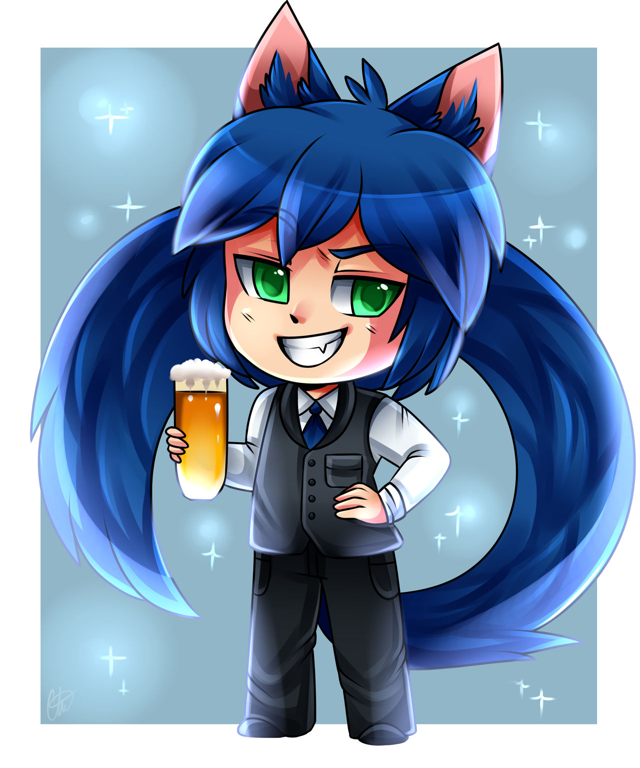 Commission- Chibi Salmir