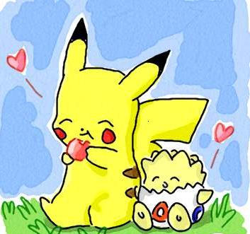 PIKACHU AND TOGEPI by Sweetochii