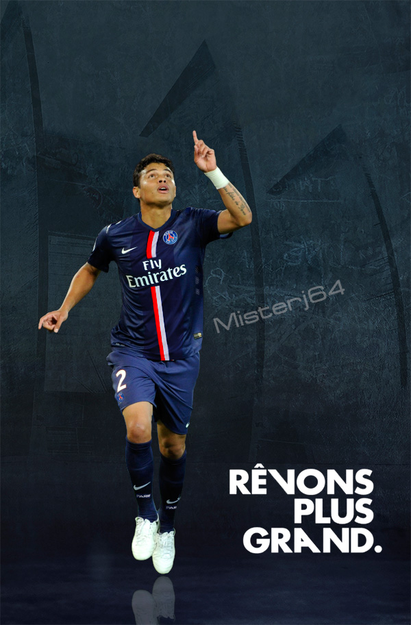 Thiago Silva PSG Artwork 2015 Jersey Home By Misterj64