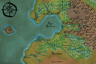 Map of Lothion from MageBorn by Michael G. Manning