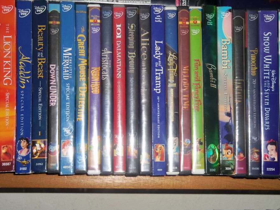 DISNEY DVD COLLECTION SO FAR 1/3 by bvw1979 on DeviantArt
