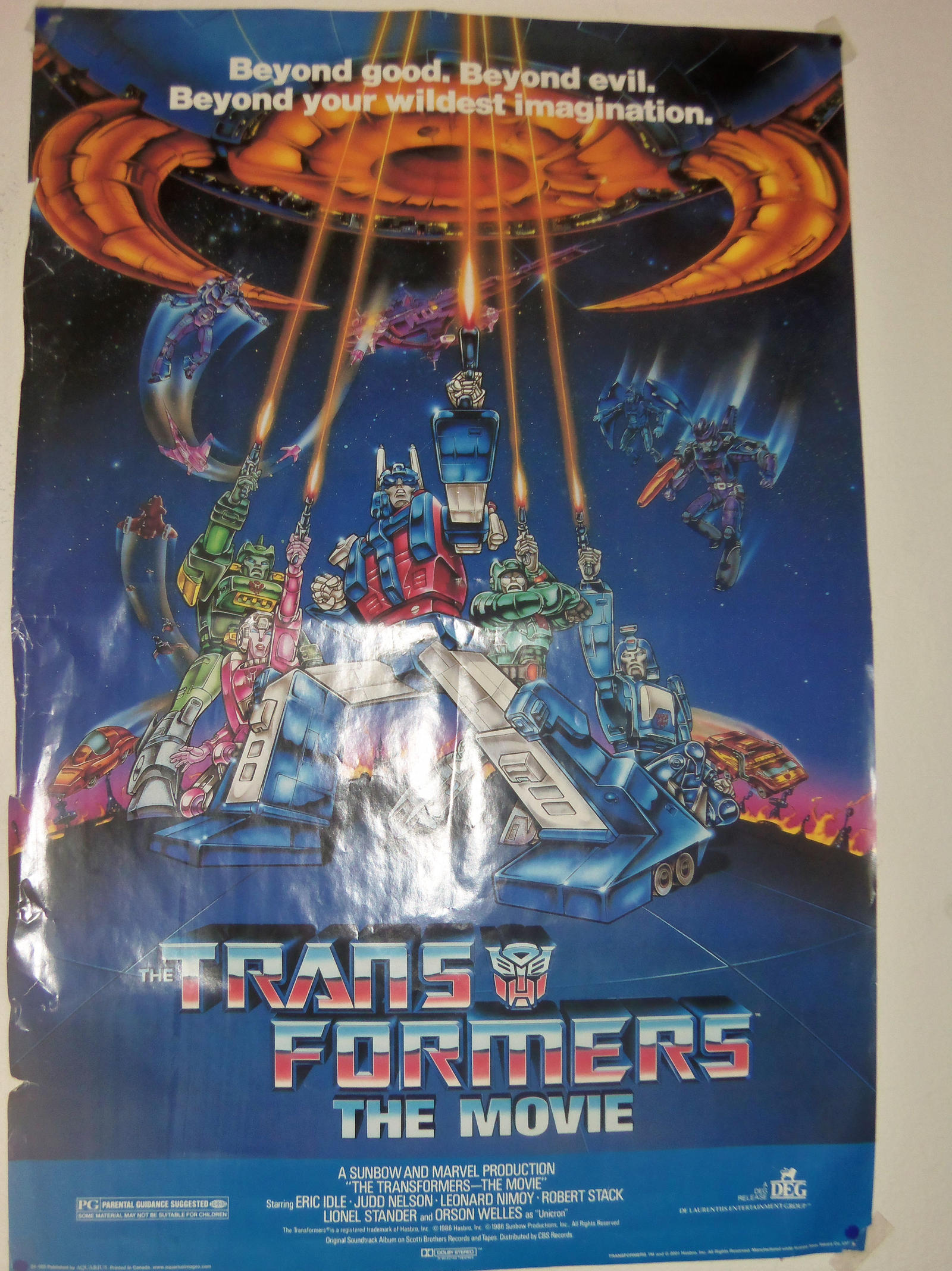my transformers the movie poster 1986 by bvw1979 on