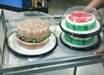 MEMORIAL DAY BURGER CAKE AND WATERMELON CAKES by bvw1979