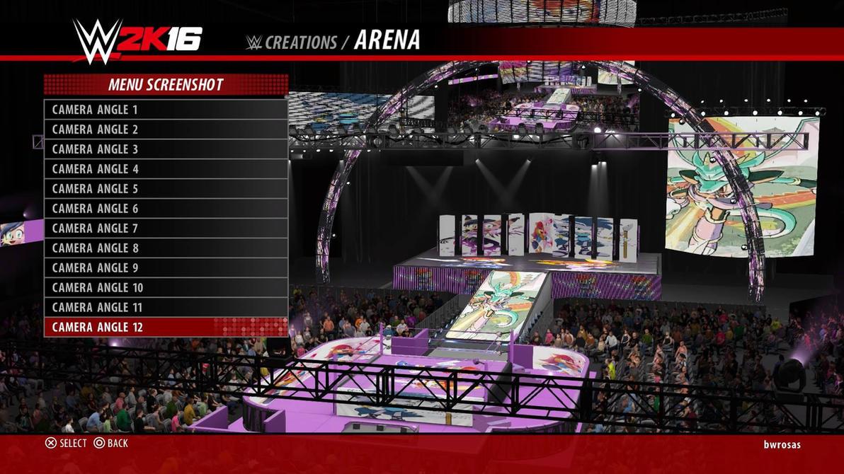 Sonic SatAM Girls Arena in WWE 2K16 by bvw1979