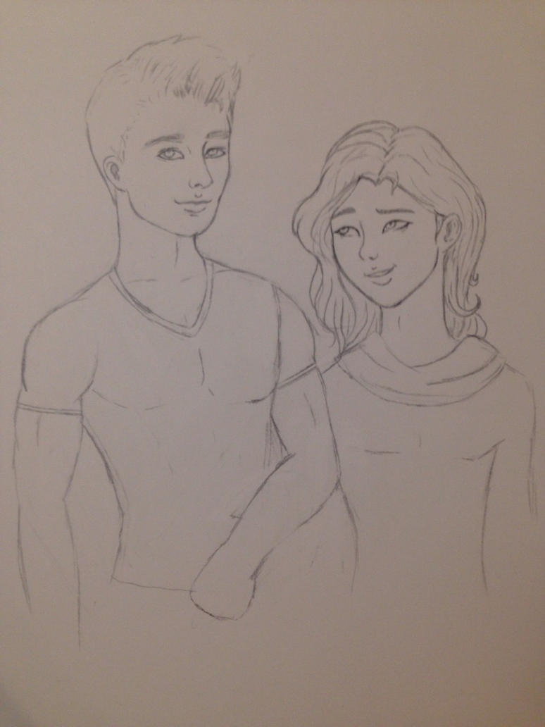 Soo and Jackson Drawing by kiwihobbit