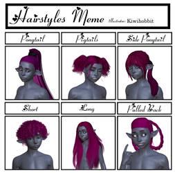 BlackLadyBinary Hair Meme: Lysander by kiwihobbit
