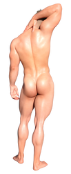 Jason Whitethorne's Booty by AlleyKatArt