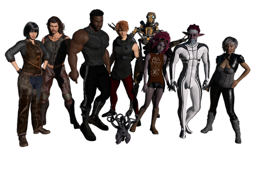 Crew of the Cobalt Solace