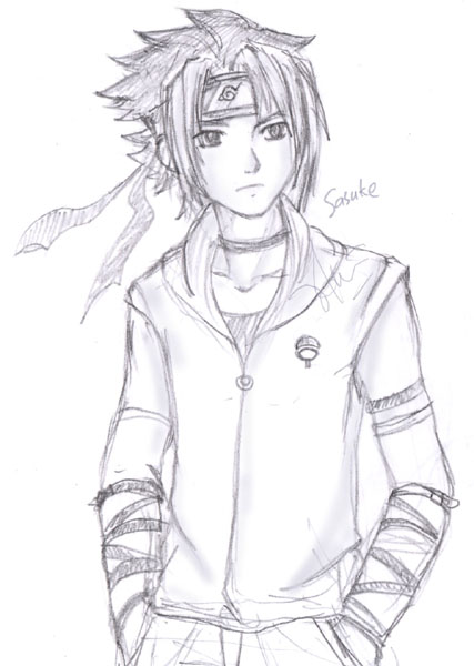 Sasuke sketch by blumarine