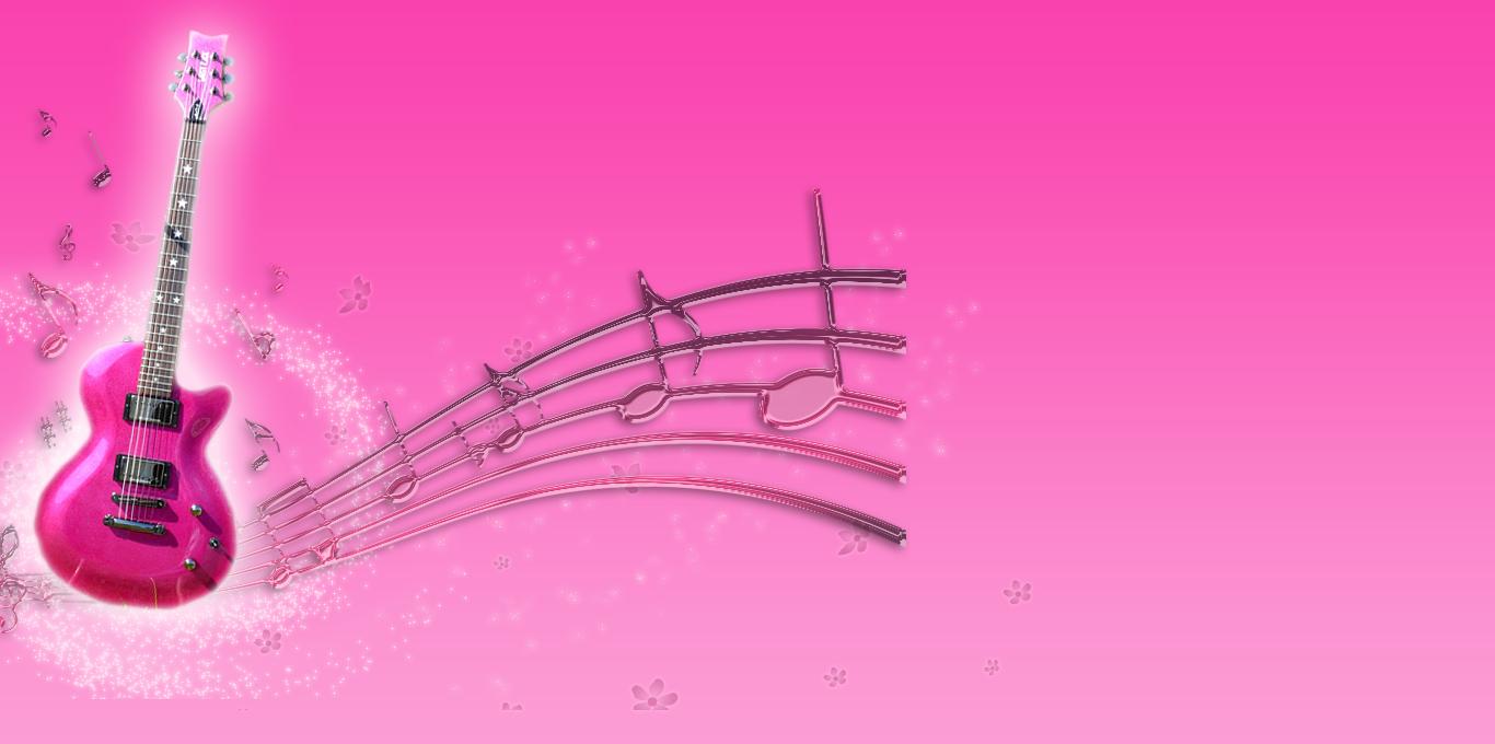 wallpaper music guitar pink - photo #23