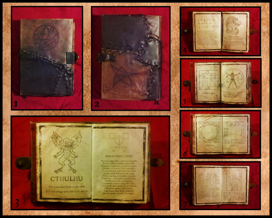Necronomicon detail collage by JasonMcKittrick