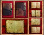 Necronomicon detail collage