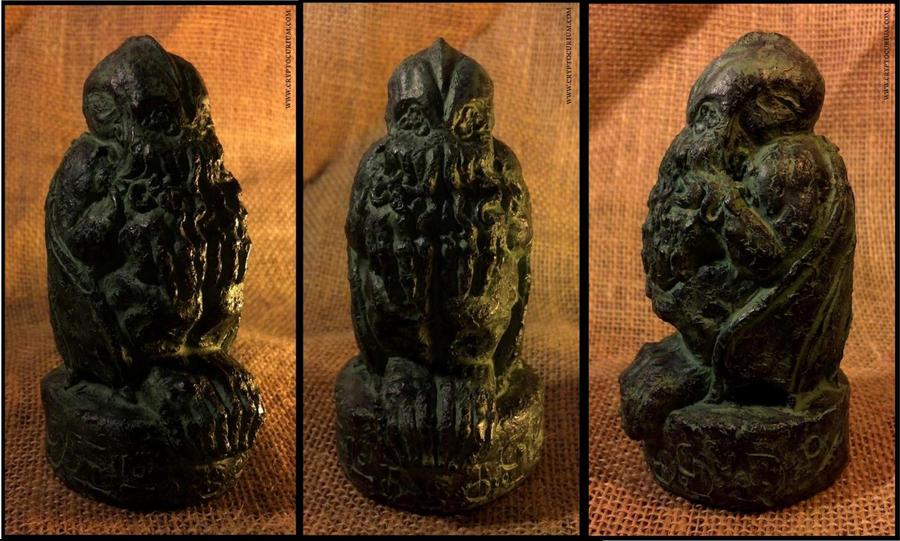 Arkham Cthulhu Idol Collage by JasonMcKittrick