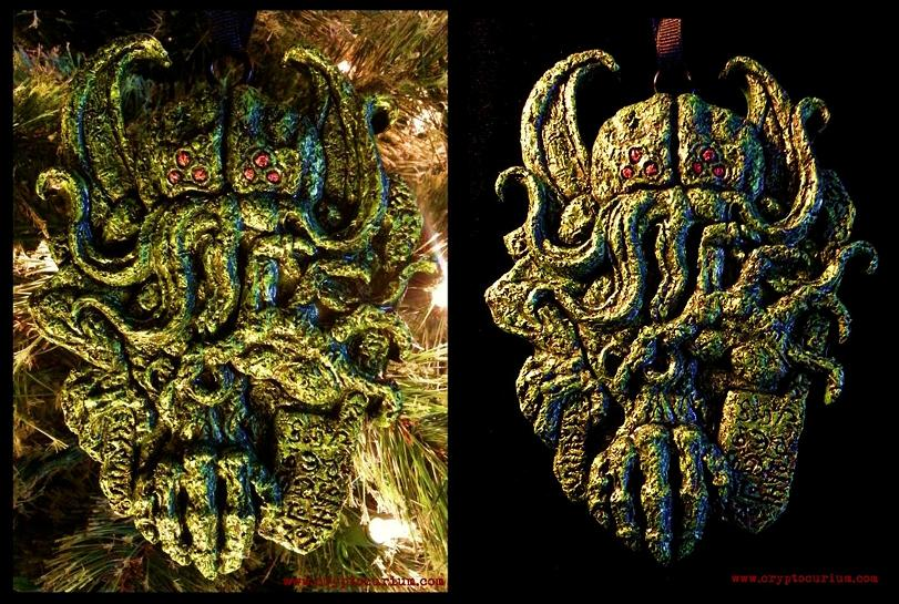 Cthulhu Yuletide Ornament by JasonMcKittrick