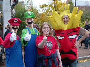 Mario Bros and Frylock