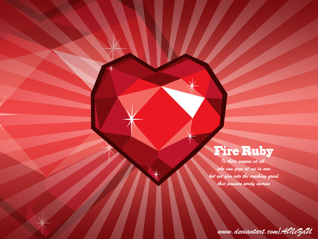 Fire Ruby Wallpaper By Atnezau