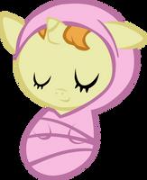 Newborn Pumpkin Cake Asleep by atnezau