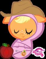 Newborn AppleJack Asleep by atnezau