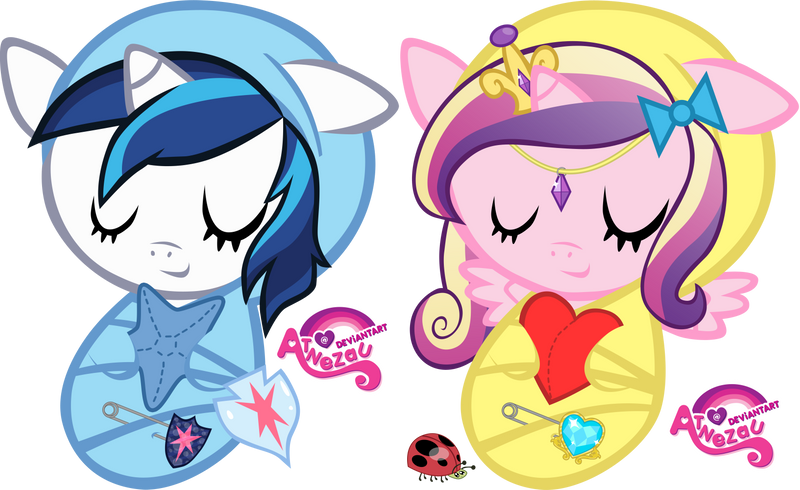 Newborn Shining Armour and Cadance by atnezau