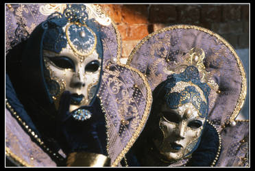 Golden and Violet masks by multix