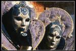 Golden and Violet masks
