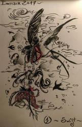 The Boy and the Bird | Swift - Inktober #1