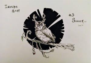 Hownrls |Inktober2017 - #9 Screech