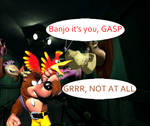 Banjo and Kazooie in Grabed by the ghoulies