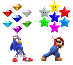 Chaos Emeralds  and Destiny Stars