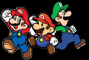 Mario, Paper Mario and Luigi (ML Paper Jam) by Banjo2015