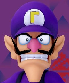 Waluigi's head by Banjo2015 on DeviantArt