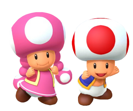 Toad and Toadette (MP10) 2 by Banjo2015 on DeviantArt