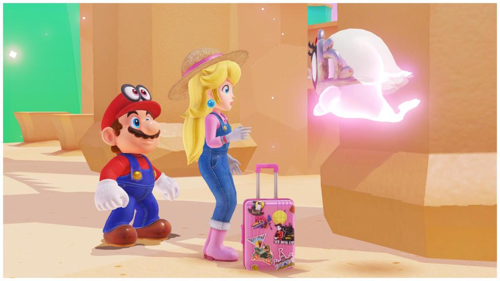 Mario peach cappy and tiara in the luncheon kingdo by - Princesse dans mario ...