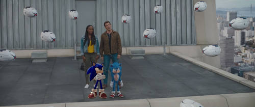 Two Sonic in the movie
