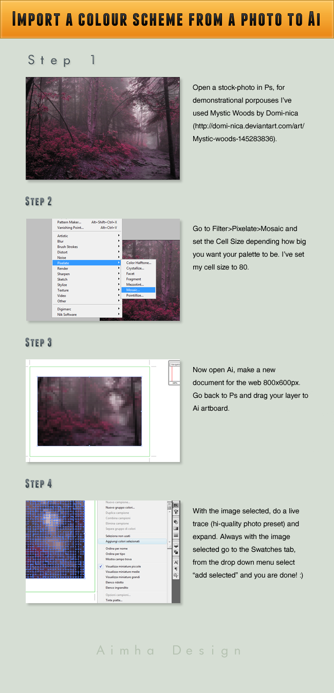 Import a colour scheme to Ai by AimhaDesign