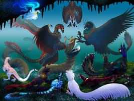 Dread Eel Battle by Shavahiivallah