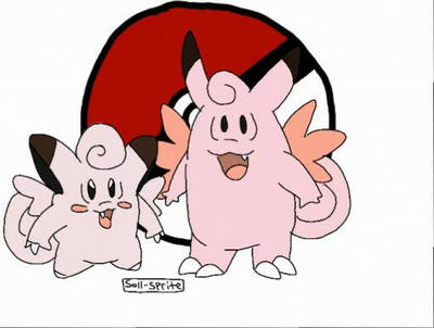 clefairy/clefable by Soll-Sprite