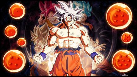 Mastered Ultra Instinct Goku 4K Wallpaper by POetIKal