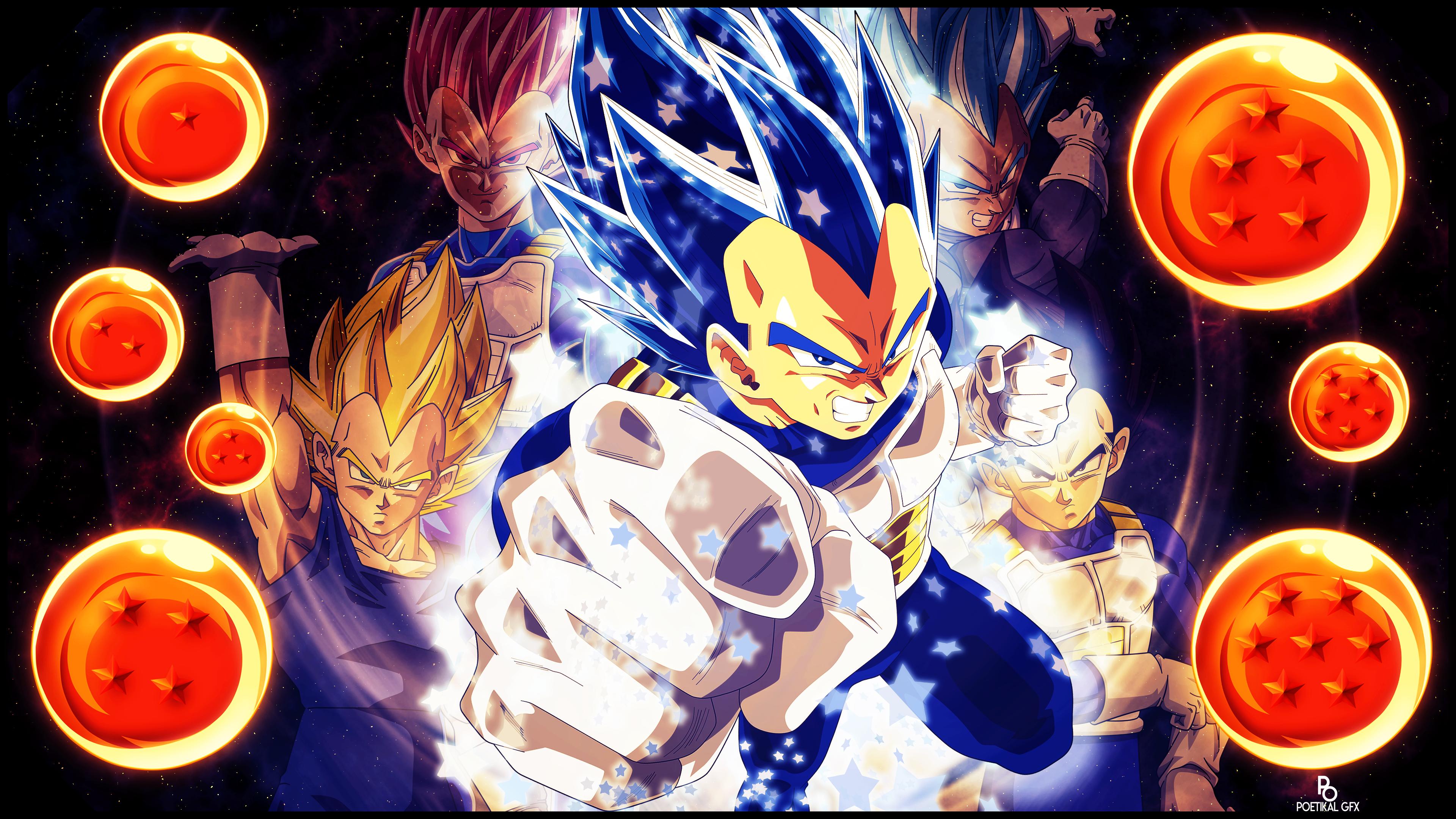 Full Power Super Saiyan Blue Vegeta 4k Wallpaper By Poetikal